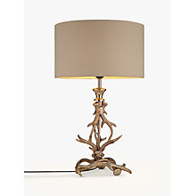 Buy John Lewis Antlers Table Lamp, Nickel Online at johnlewis.com