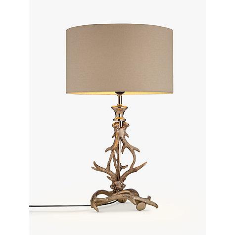 Buy John Lewis Antlers Table Lamp, Nickel Online At Johnlewis.com ...