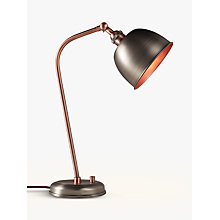 Buy John Lewis Baldwin Task Lamp Pewter / Copper Online at johnlewis.com