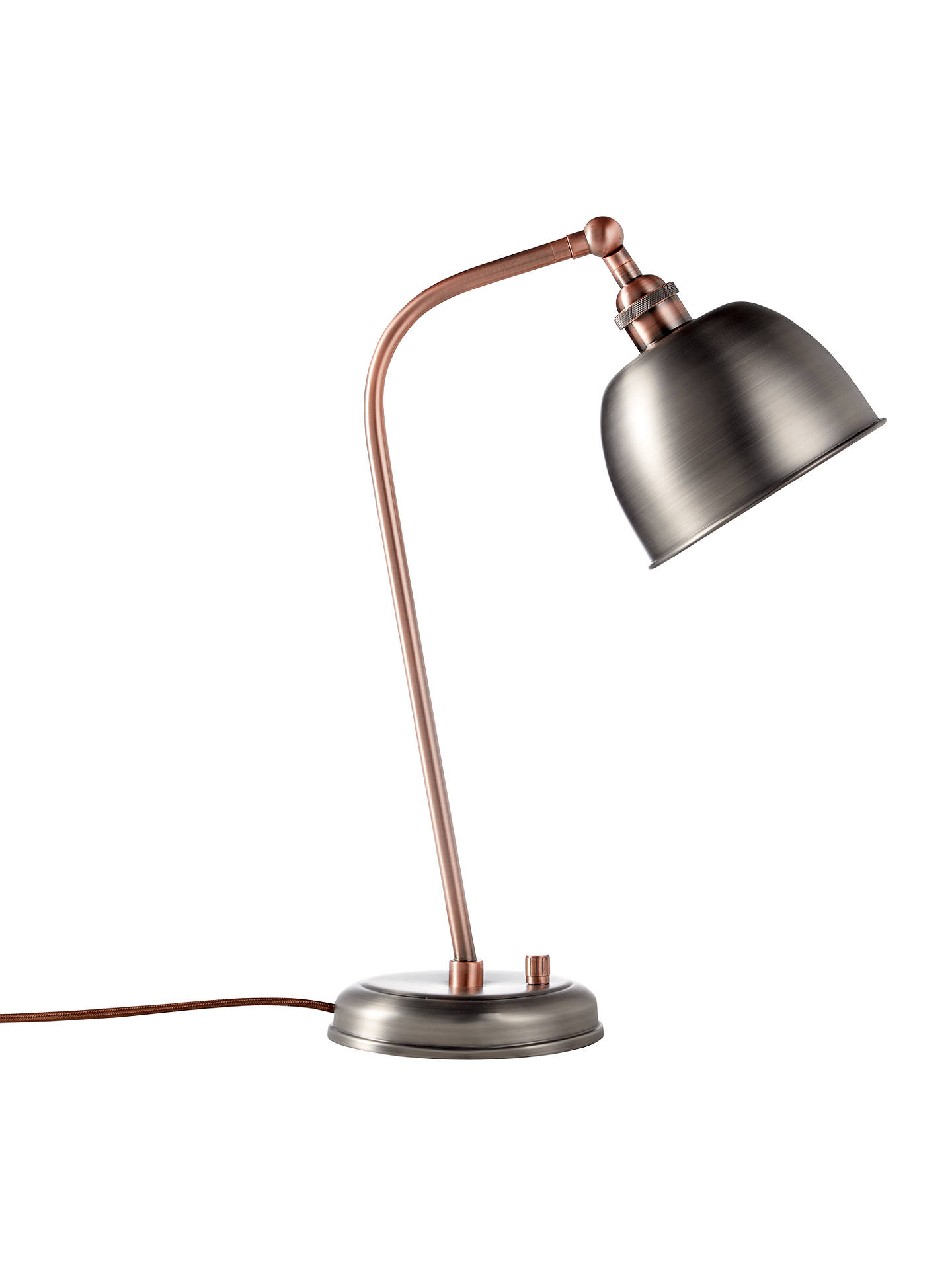 Industrial Task Table Lamp Pewter Silver Includes Energy