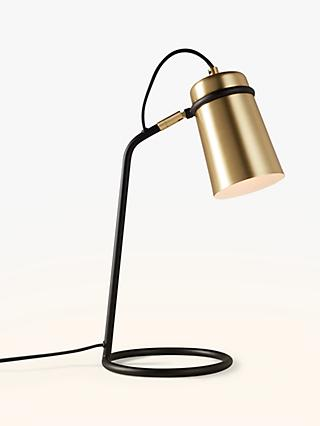 John Lewis & Partners Keegan Task Lamp, Satin Brass