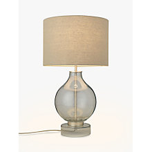 Buy John Lewis Croft Collection Selsey Large Table Lamp, Blue Tinted Online at johnlewis.com
