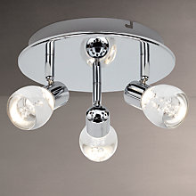 Buy John Lewis Cammi LED 3 Spotlight Ceiling Plate Online at johnlewis.com