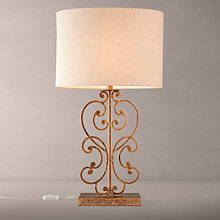 Buy John Lewis Clora Table Lamp, Antique Brass Online at johnlewis.com