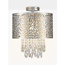 Buy John Lewis Destiny Fretwork Semi Flush Ceiling Light, Chrome Online at johnlewis.com