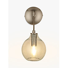 Buy John Lewis Croft Collection Selsey Wall Light, Blue Tinted Online at johnlewis.com