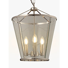 Buy John Lewis Granchester Glass Lantern Ceiling Light, Clear/Chrome Online at johnlewis.com