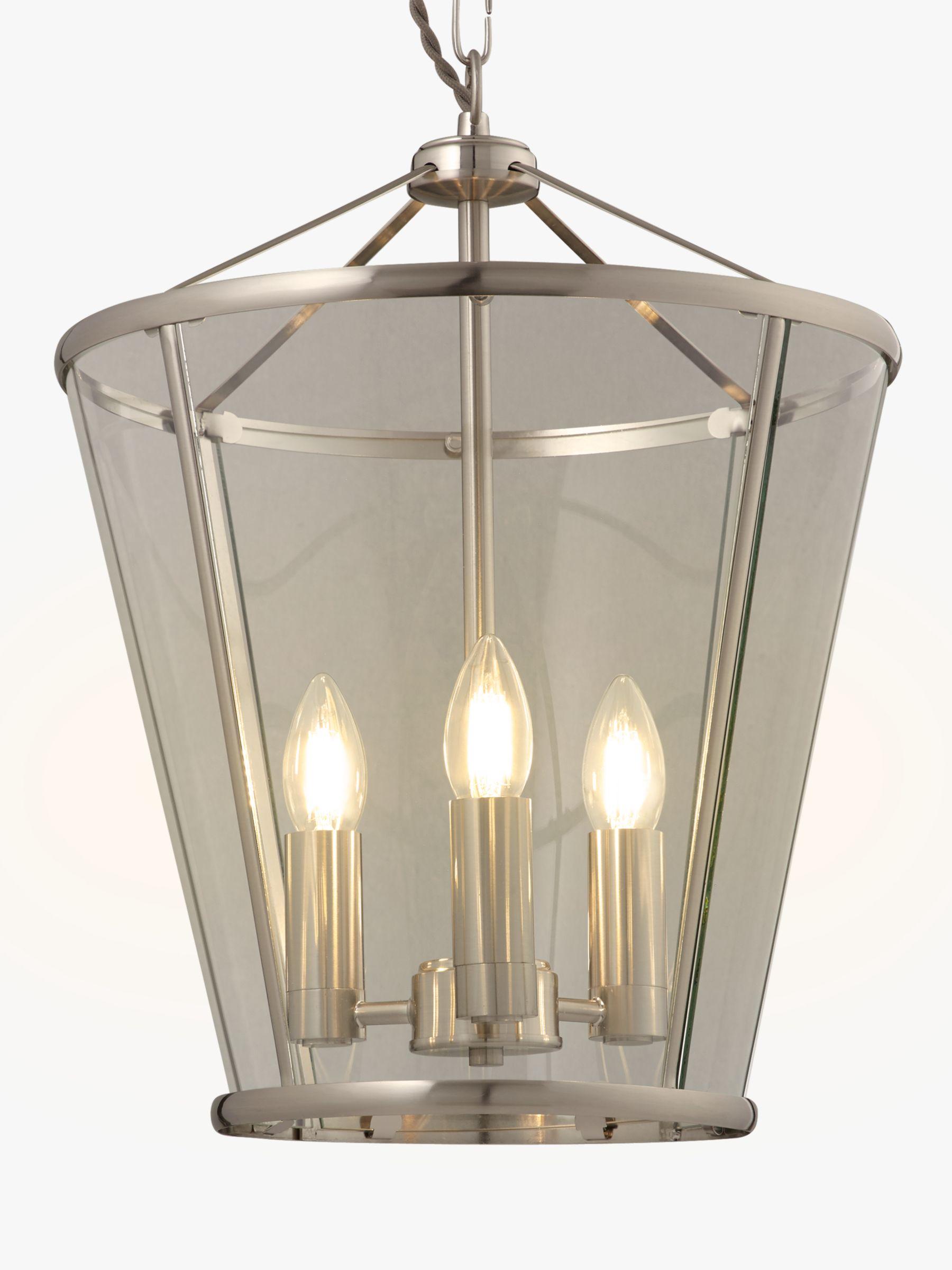 John Lewis Partners Granchester Glass Lantern Ceiling Light Satin Nickel At John Lewis Partners