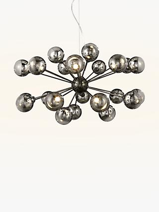 John Lewis & Partners Dano LED Ceiling Light, 24 Arm, Smoke