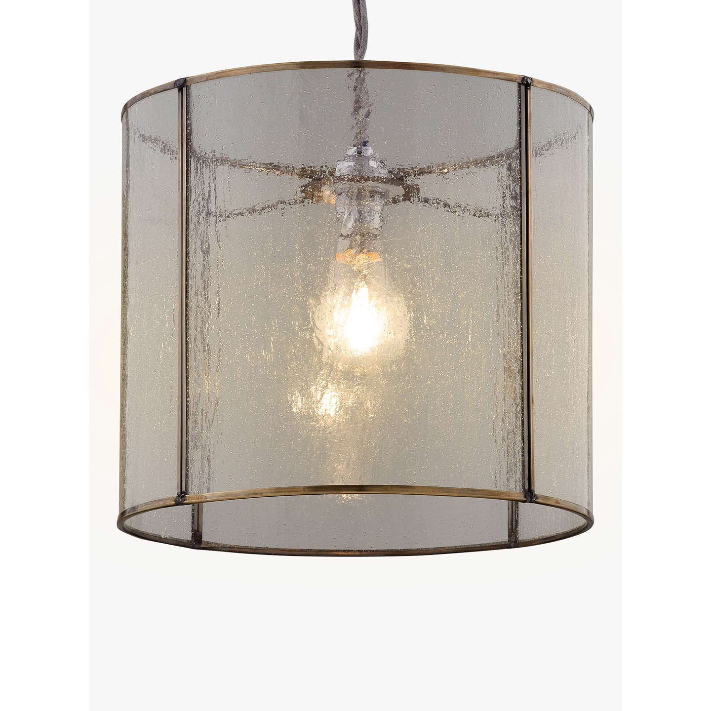 John Lewis Easy-to-fit Leighton Bubble Glass Ceiling Shade