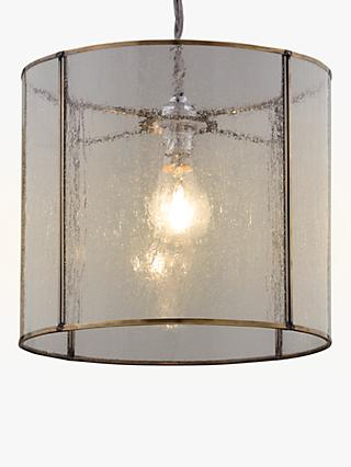Croft Collection Leighton Easy-to-Fit Bubble Glass Ceiling Shade