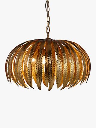 John Lewis & Partners Montserrat Leaf Ceiling Light, Gold