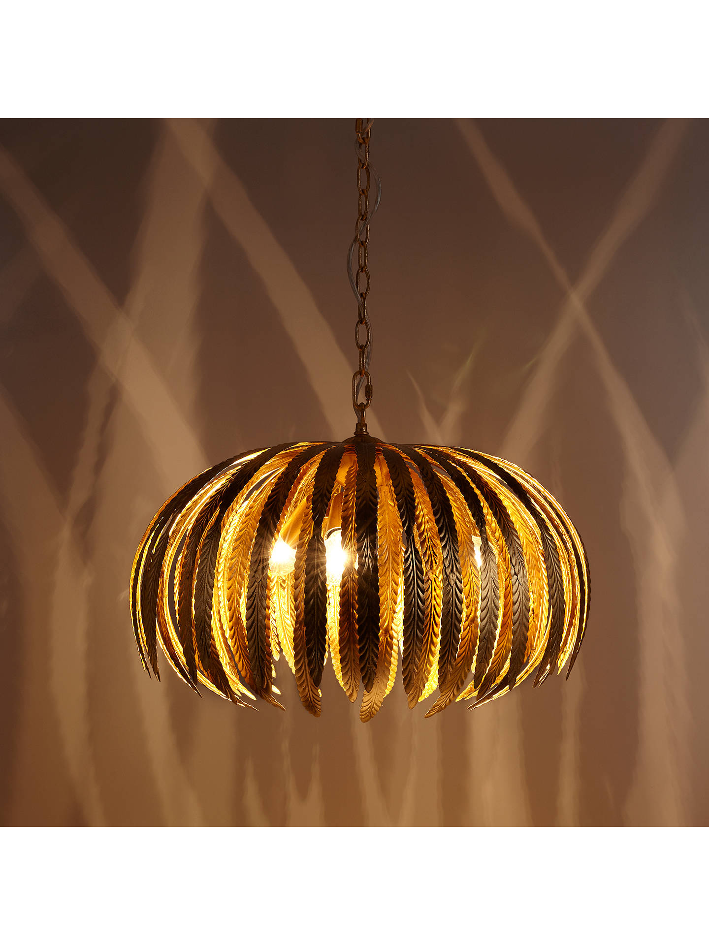 BuyJohn Lewis & Partners Montserrat Leaf Ceiling Light, Gold Online at johnlewis.com