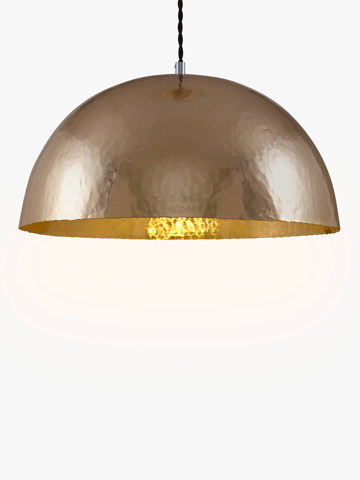 John Lewis Partners Nala Hammered Pendant Ceiling Light Br Online At Johnlewis