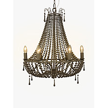 Buy John Lewis Marilyn Beaded Paris Chandelier, Grey Online at johnlewis.com