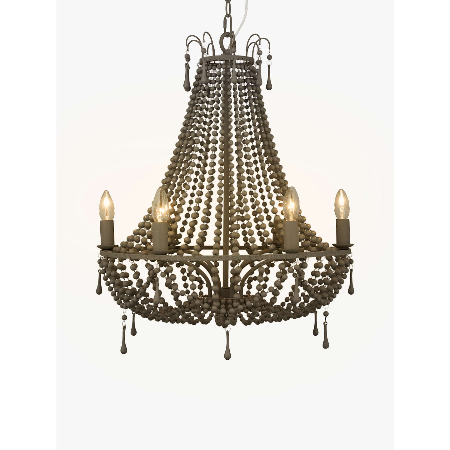 BuyJohn Lewis Marilyn Beaded Paris Chandelier, Grey Online at johnlewis.com