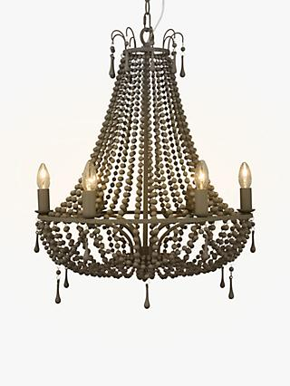Chandelier lighting ceiling lighting john lewis partners john lewis partners marilyn beaded paris chandelier aloadofball Image collections