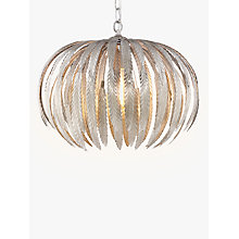 Buy John Lewis Montserrat Mini Silver Leaf Ceiling Light Online at johnlewis.com