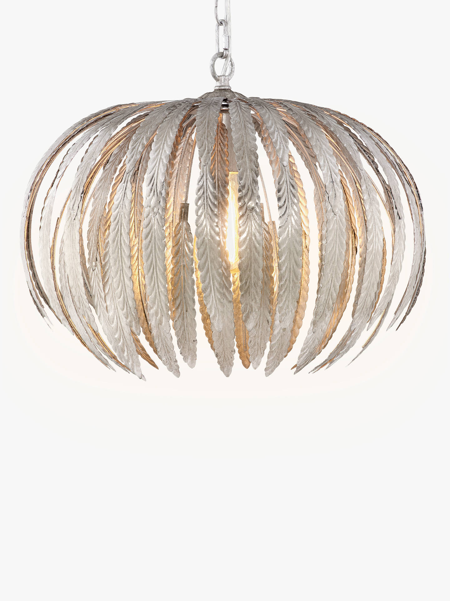 Mini Silver Leaf Ceiling Light