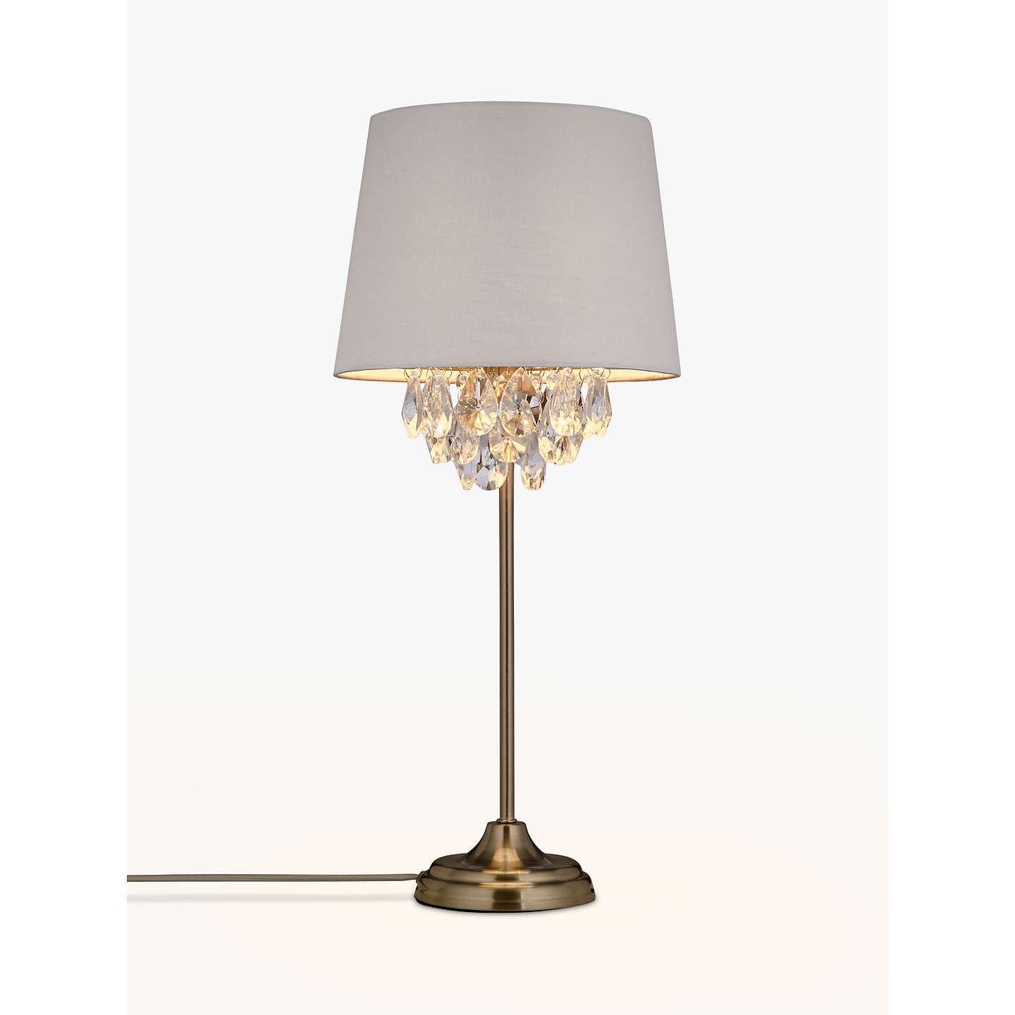 John lewis christabel table lamp satin nickel at john lewis buyjohn lewis christabel table lamp satin nickel online at johnlewis mozeypictures Image collections