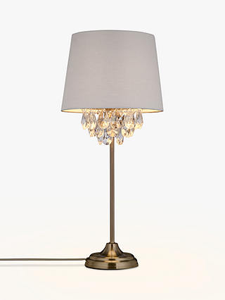 Buy John Lewis & Partners Christabel Table Lamp, Satin Nickel Online at johnlewis.com