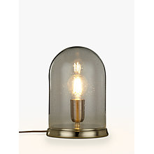 Buy Croft Collection Selsey Dome Touch Table Lamp, Blue Tinted Online at johnlewis.com