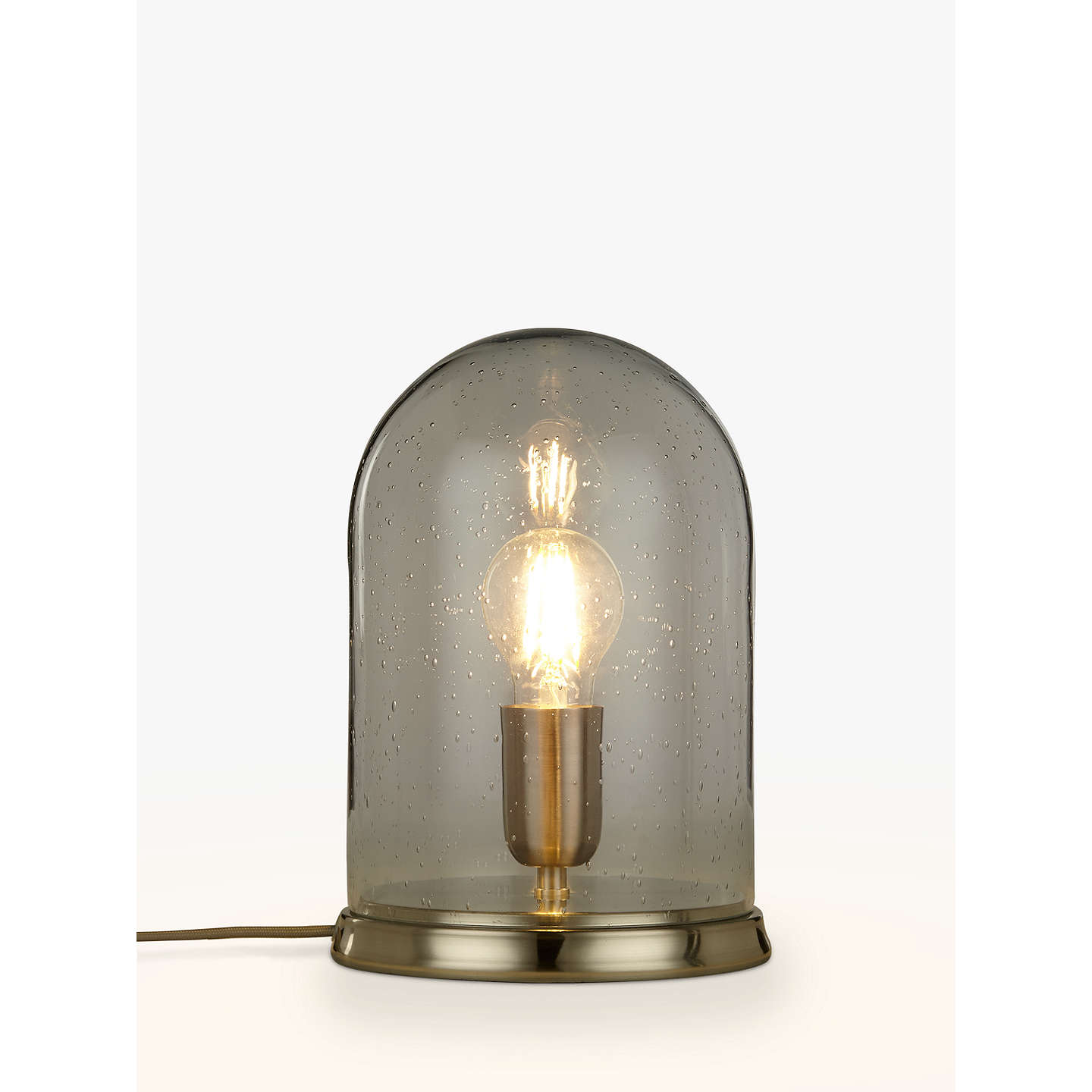BuyCroft Collection Selsey Dome Touch Table Lamp, Blue Tinted Online At  Johnlewis.com ...