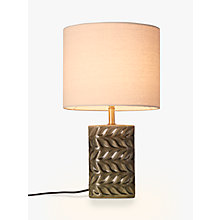 Buy John Lewis Earl Table Lamp, Grey Online at johnlewis.com
