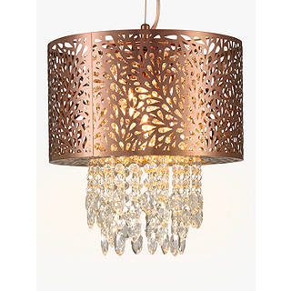 Chandelier lighting ceiling lighting john lewis john lewis destiny fretwork ceiling light copper small aloadofball Image collections