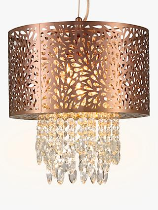 Chandelier lighting ceiling lighting john lewis partners john lewis partners destiny fretwork ceiling light copper small aloadofball Image collections