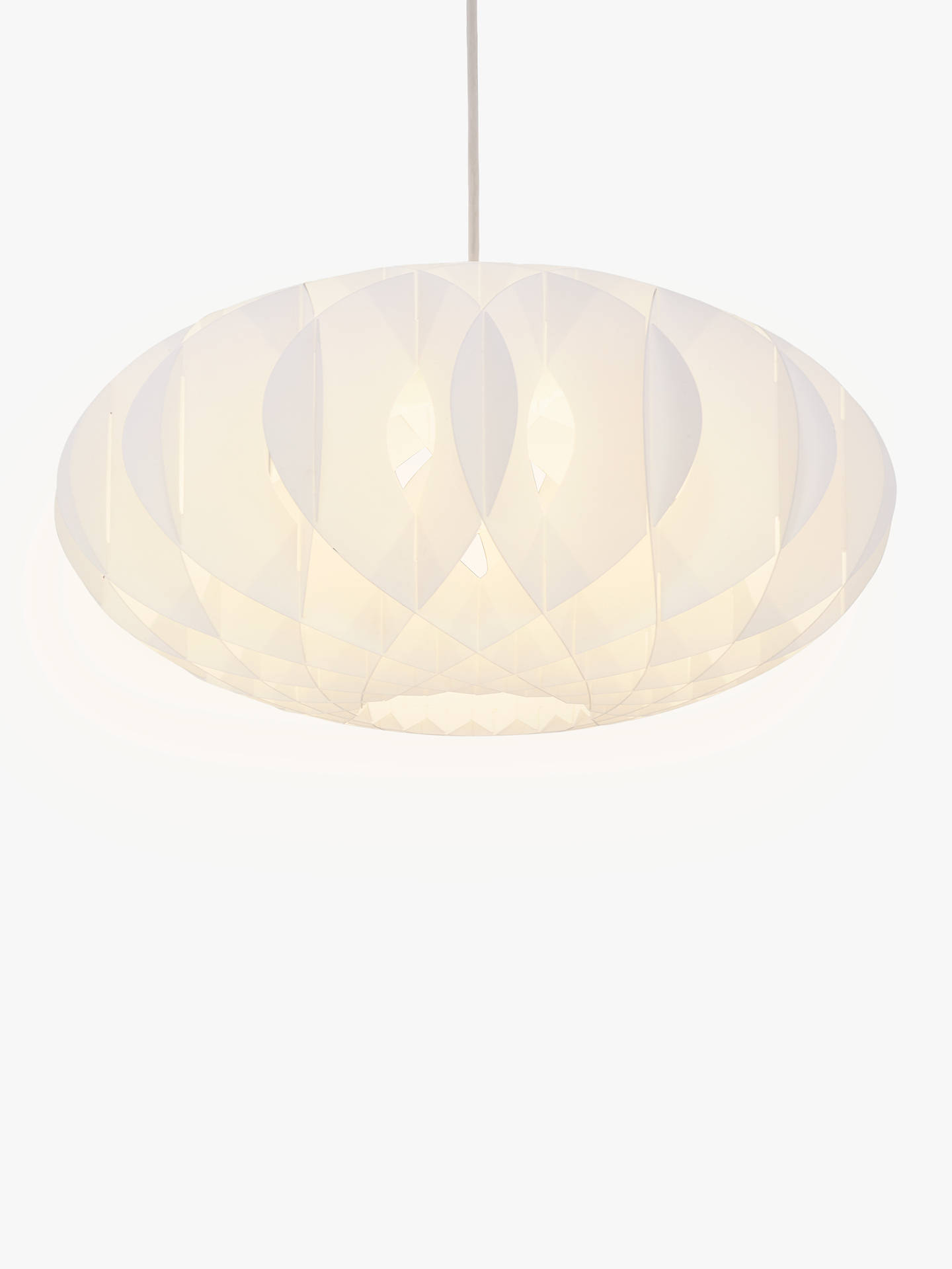 House By John Lewis Nate Easy To Fit Ceiling Shade White At John