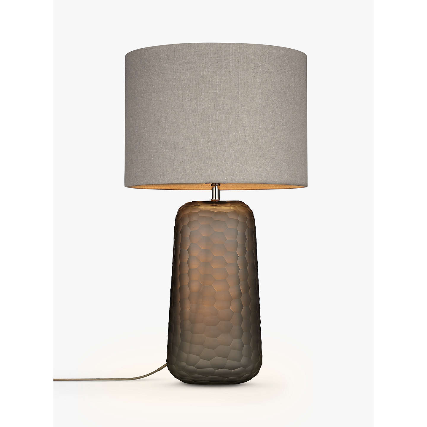 john lewis lucian frosted glass table lamp grey at john lewis