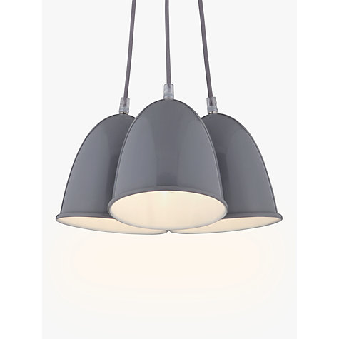 Buy house by john lewis riley 3 light ceiling pendant grey john buy house by john lewis riley 3 light ceiling pendant grey online at johnlewis mozeypictures Gallery