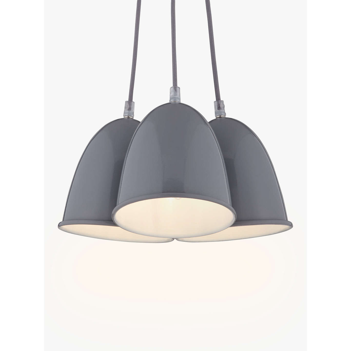 House by john lewis riley 3 light ceiling pendant grey at john lewis buyhouse by john lewis riley 3 light ceiling pendant grey online at johnlewis mozeypictures