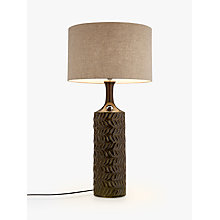 Buy John Lewis Moore Textured Glazed Table Lamp, Green Online at johnlewis.com
