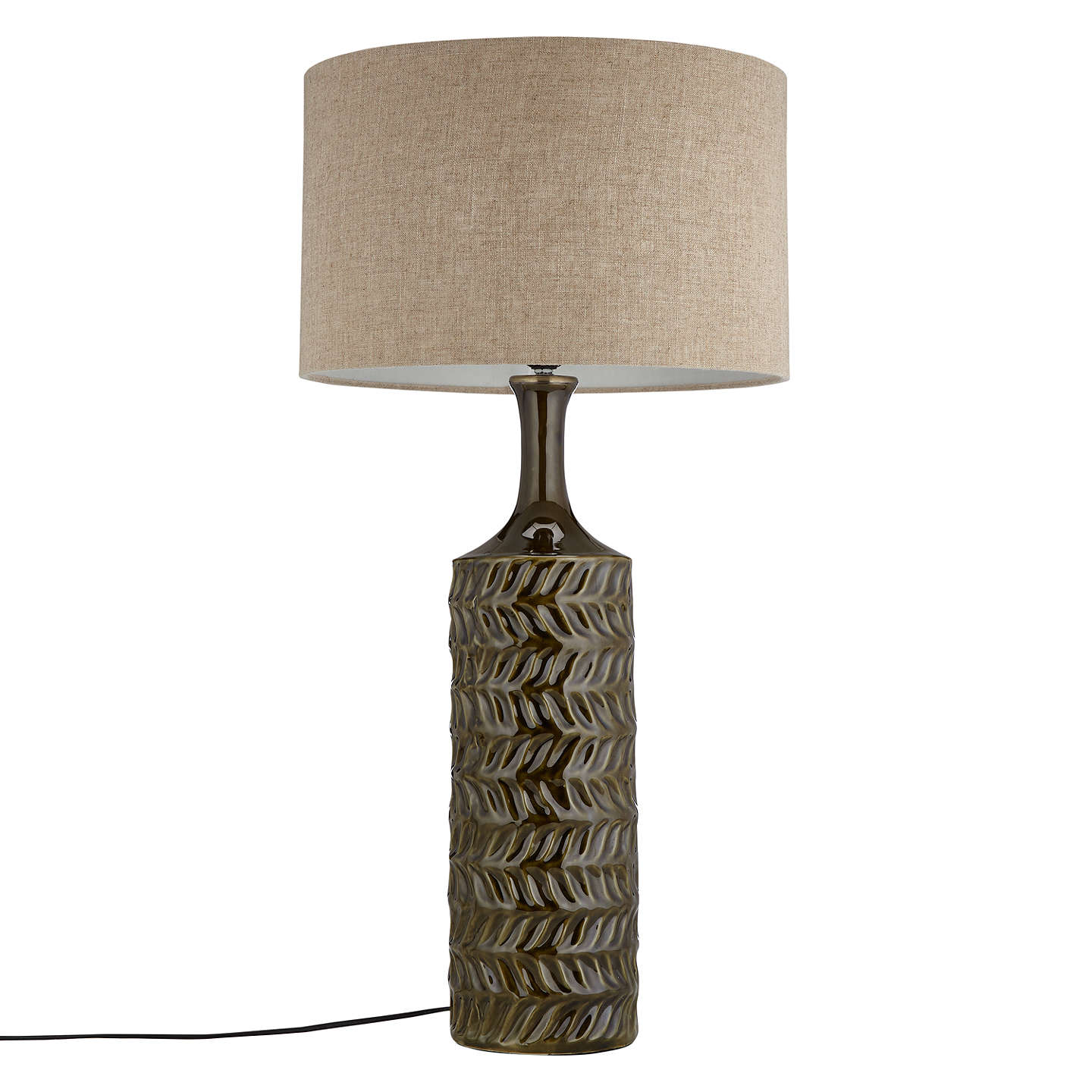 John lewis moore textured glazed table lamp green at john lewis buyjohn lewis moore textured glazed table lamp green online at johnlewis aloadofball Choice Image