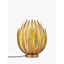 Buy John Lewis Montserrat Leaf Gold Table Lamp Online at johnlewis.com