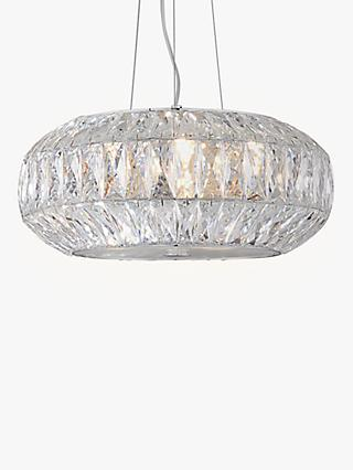 John Lewis & Partners Kelsey Crystal Ceiling Light, Clear