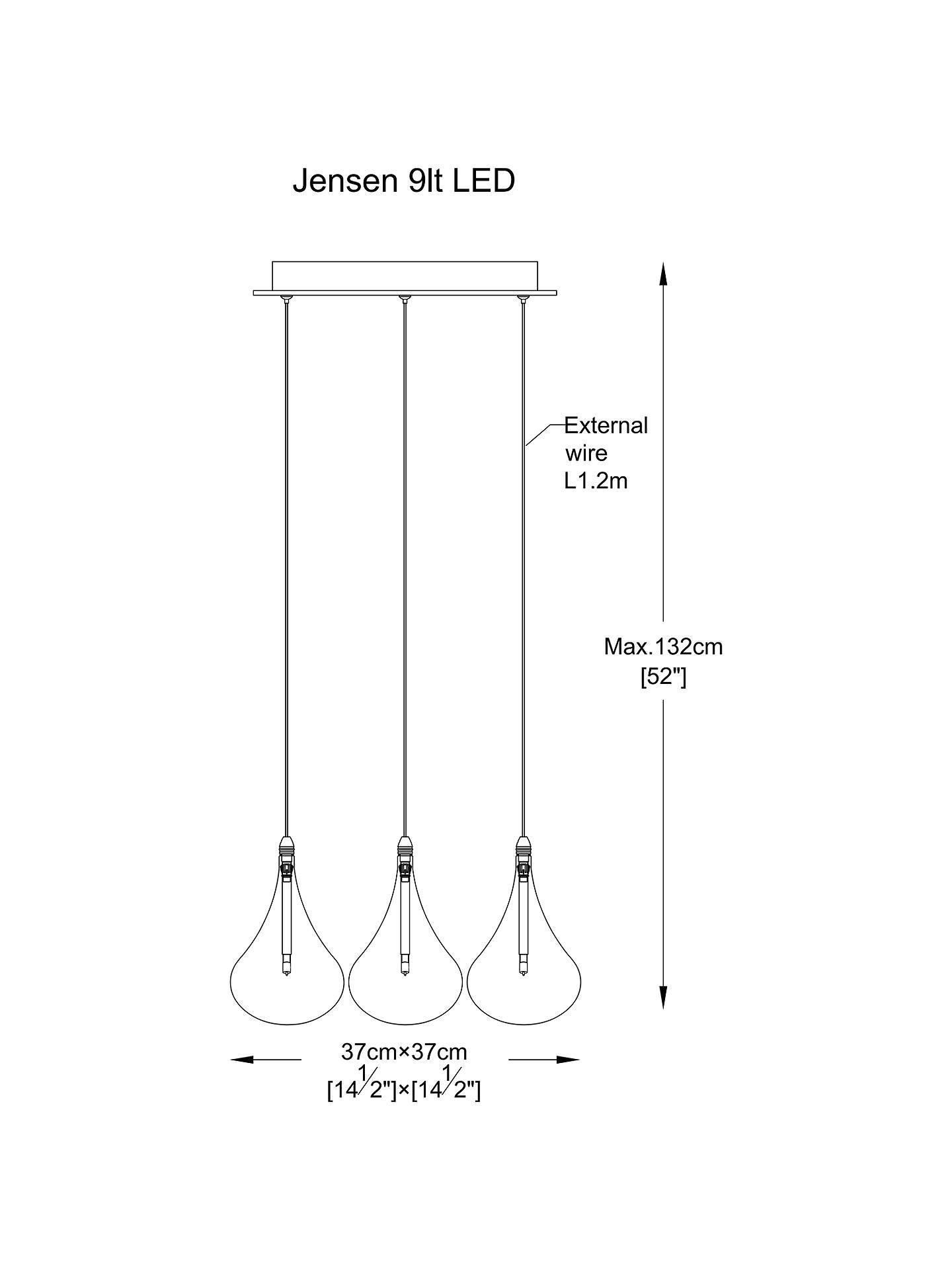 John Lewis Partners Jensen 9 Pendant Led Cluster Ceiling Light Wiring Diagram Buyjohn Chrome Online At Johnlewis