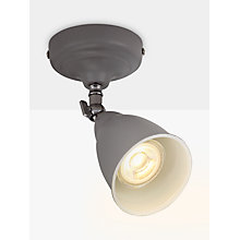 Buy John Lewis Plymouth LED Single Spotlight, Grey / Satin Nickel Online at johnlewis.com