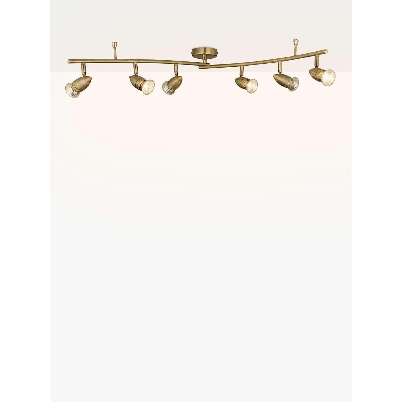 John lewis soyuz 6 spotlight ceiling bar brass at john lewis buyjohn lewis soyuz 6 spotlight ceiling bar brass online at johnlewis aloadofball Images