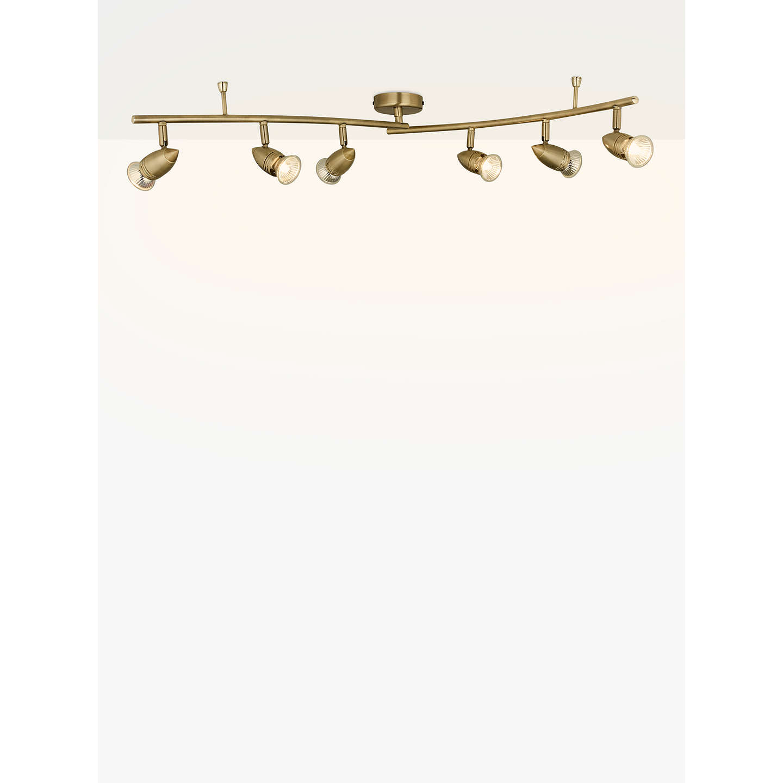 John lewis soyuz 6 spotlight ceiling bar brass at john lewis buyjohn lewis soyuz 6 spotlight ceiling bar brass online at johnlewis aloadofball Image collections
