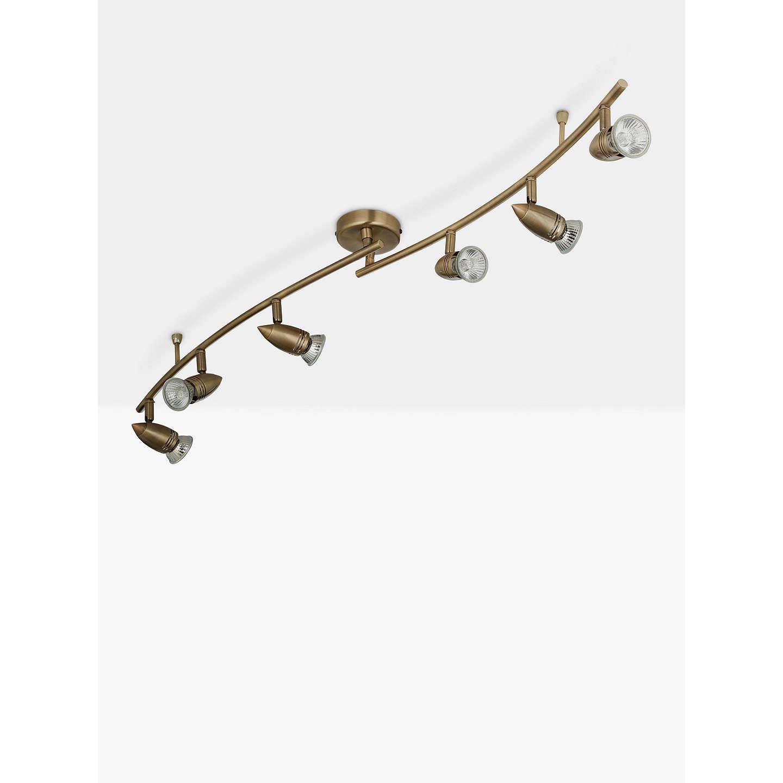 John lewis soyuz 6 spotlight ceiling bar brass at john lewis buyjohn lewis soyuz 6 spotlight ceiling bar brass online at johnlewis mozeypictures Gallery