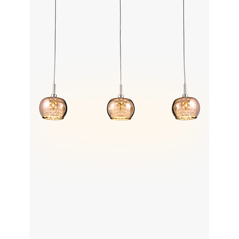 Buy john lewis stella 3 light ceiling bar copper john lewis buy john lewis stella 3 light ceiling bar copper online at johnlewis mozeypictures Gallery