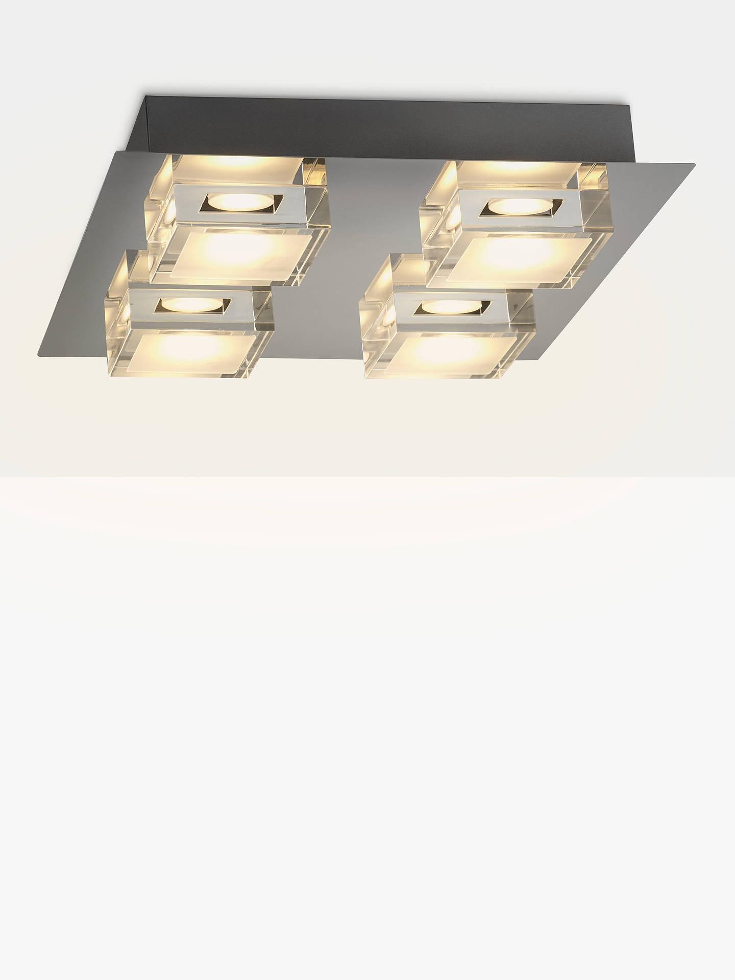 buyjohn lewis partners arlo led bathroom ceiling light chrome online at johnlewis - Led Bathroom Ceiling Lights