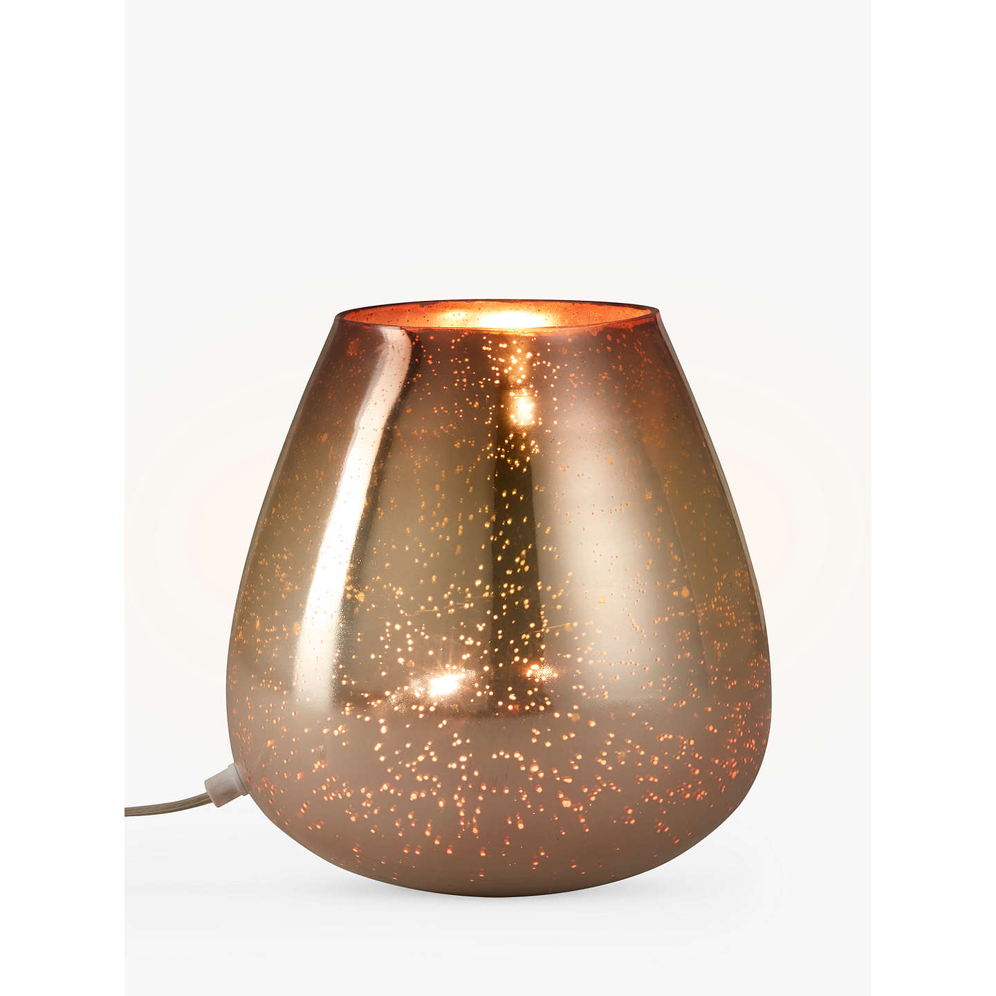 john lewis nayna colour vessel table lamp metallic bronze rose at