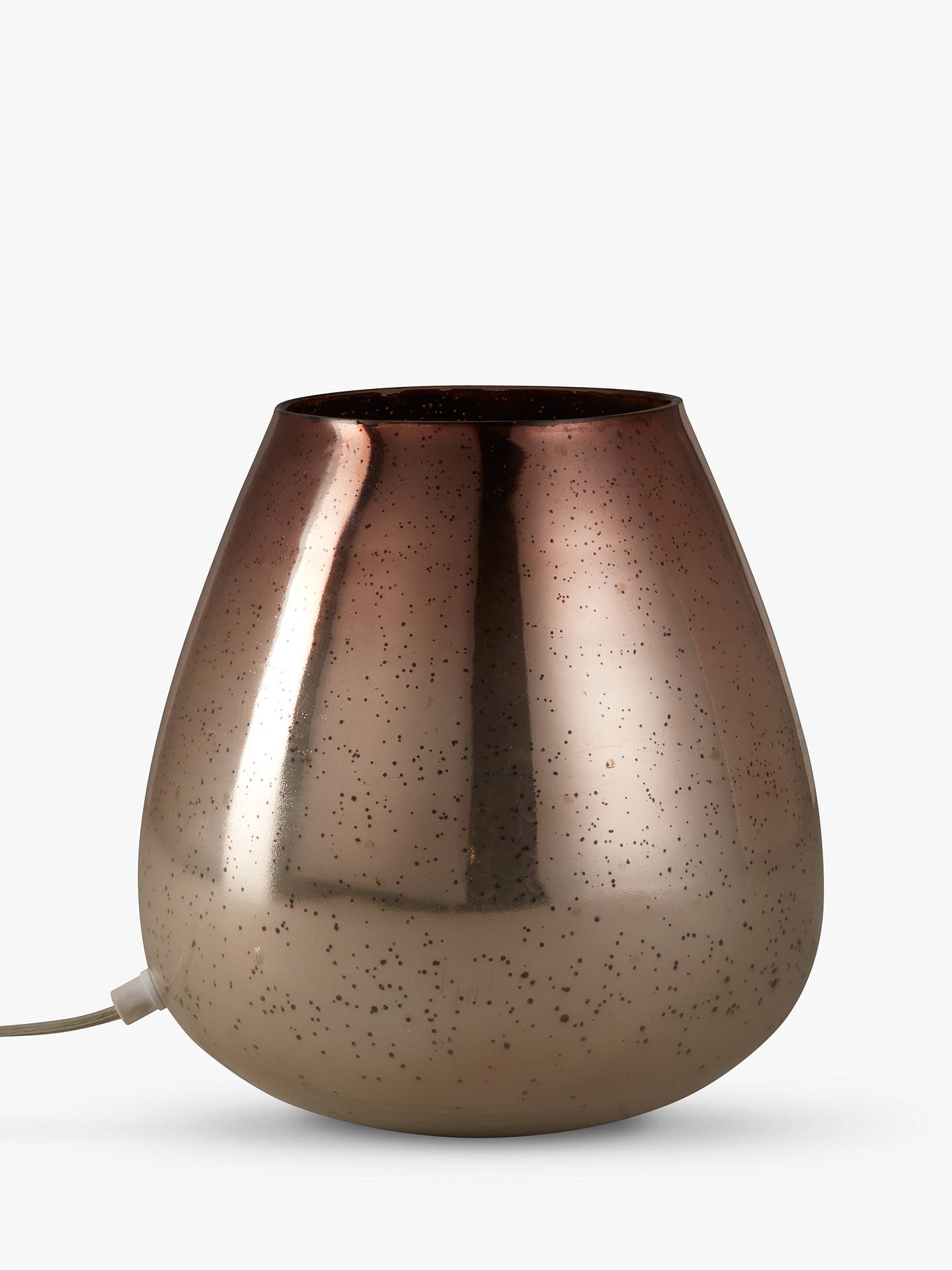 BuyJohn Lewis & Partners Nayna Colour Vessel Table Lamp, Metallic Bronze / Rose Online at johnlewis.com