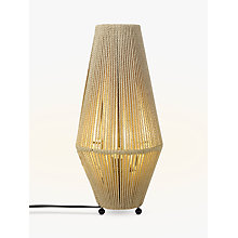 Buy John Lewis Truman String Table Lamp. Natural / Black Online at johnlewis.com