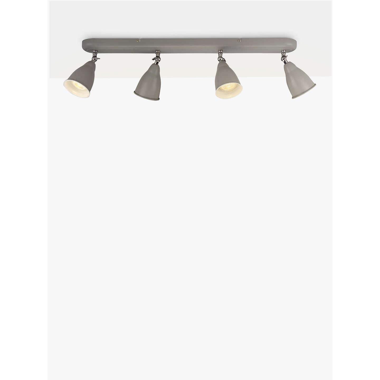 John lewis plymouth led spotlight bar 4 light grey satin nickel buyjohn lewis plymouth led spotlight bar 4 light grey satin nickel online at aloadofball Images