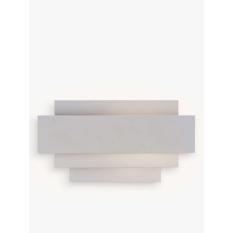 John Lewis Mezze Metal Wall Light, White at John Lewis